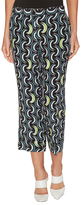 Miu Miu Silk Printed Cropped Pant