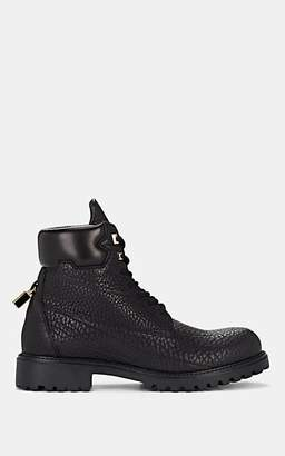 Buscemi Men's Site Pebbled Leather Lace-Up Boots - Black