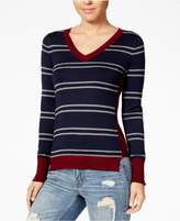 Hippie Rose Juniors' Step-Hem Sweater
