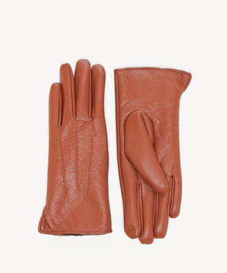 Sole Society Women's Faux Leather Gloves Cognac One Size From