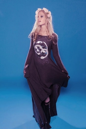 Wildfox Couture Child Like Empress Lucy Dress in Dirty Black