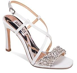 Badgley Mischka Women's Elana Crystal-Embellished High-Heel Sandals