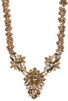 Carolee Big Floral Stone Frontal Beaded Necklace
