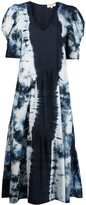 Thumbnail for your product : Sea Tie-Dye Print Puff-Sleeve Dress