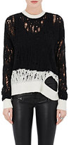 Ben Taverniti Unravel Project Women's Wool-Cashmere Distressed Sweater-BLACK