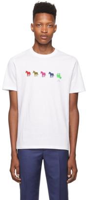 Paul Smith White Zebra Repeat T-Shirt