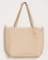 Chico's Chicos Straw Metallic-Detail Tote
