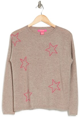 Cashmere Star Print Sweater