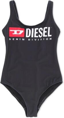 Diesel Printed Logo One-Piece Swimsuit
