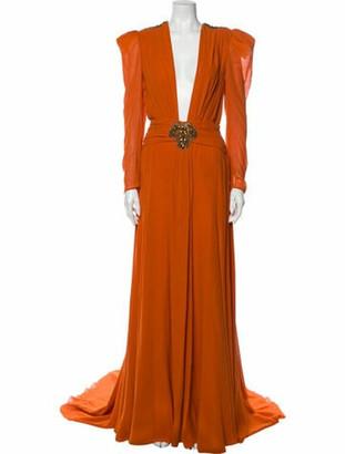 Dundas 2019 Long Dress Orange