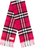 Burberry exploded check cash scarf - kids - Cashmere - One Size