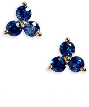 Ef Collection Gem Trio Stud Earrings