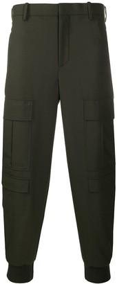 Neil Barrett Plain Slim-Fit Cargo Trousers