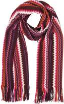 Missoni Pink and Purple Waves Wool Blend Women's Long Scarf