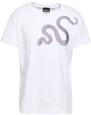 Just Cavalli Appliqued Cotton-jersey T-shirt