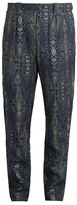 Etro Tribal-print Linen Trousers