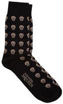 Alexander Mcqueen Contrasting Skull Print Socks