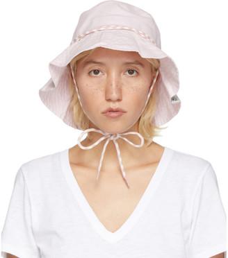 Rag & Bone Pink Drawstring Bucket Hat