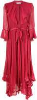 Chloé layered ruffled dress - women - Silk/Cotton/Polyester - 36