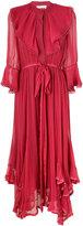 Chloé layered ruffled dress - women - Silk/Cotton/Polyester - 38