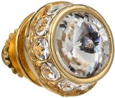 Stacy Adams Men's Gold Rondell Tie Tack With Clear Crystals