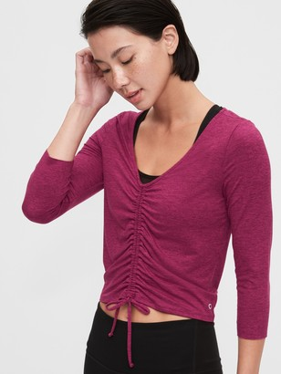 Gap GapFit Brushed Jersey Cinched Front T-Shirt