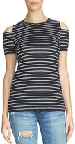 1 STATE 1.STATE Striped Cold Shoulder Top