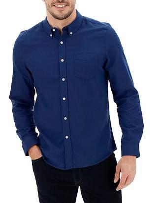 Jacamo Navy Long Sleeve Flannel Shirt Long