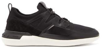 Tod's Active Sport Light 91b Leather And Suede Trainers - Mens - Black