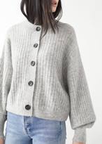 And other stories Oversized Ribbed Crewneck Cardigan