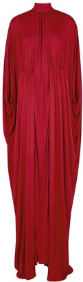 Valentino Red Cape-effect Jersey Gown