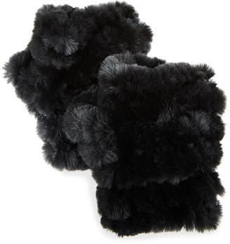 Jocelyn Mandy Fingerless Faux Fur Mittens