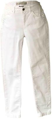 Ikks White Cotton - elasthane Jeans for Women