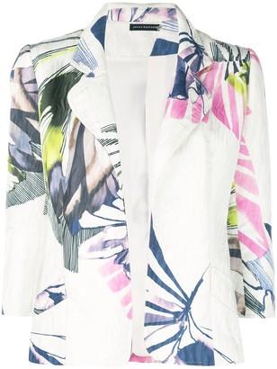 Josie Natori Botanical Palm jacquard jacket