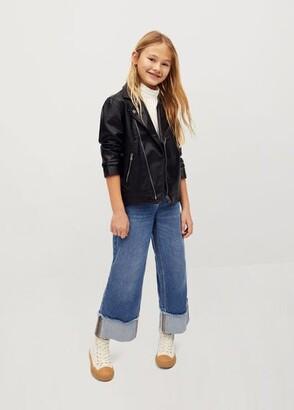 MANGO Faux-leather jacket