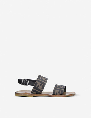 Fendi FF logo-print leather sandals 3-7 years