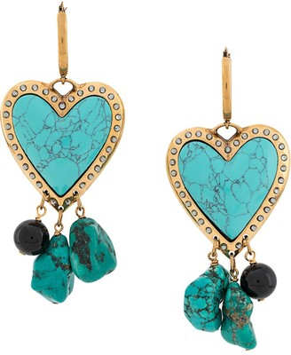 La DoubleJ Cuore Piccolo earrings