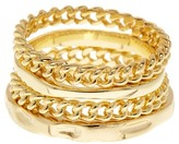 Ariella Collection Chain Ring Set - Set of 4