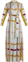 Diane von Furstenberg Tie-waist silk-twill maxi shirtdress
