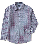 Murano Non-Iron Slim-Fit Long-Sleeve Point Collar Plaid Sportshirt