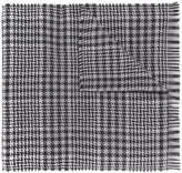Z Zegna houndstooth pattern scarf