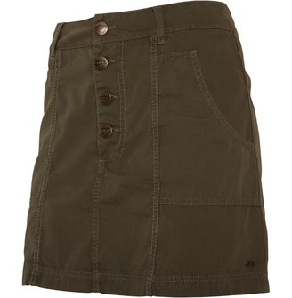 Animal Womens Short Skirt Dark Khaki