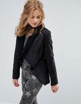 Glamorous Faux Fur Collar Coat