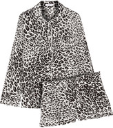 Equipment Lillian leopard-print silk pajama set