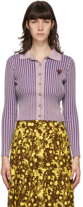 Marc Jacobs Purple Heaven by Ribbed Tiny Teddy Cardigan