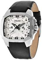 Police Men's Watch XL Analogue Display and Black Leather PL,13891JSU / 61 ADVENTURE