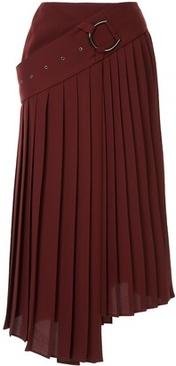 AKIRA NAKA Asymmetric Pleated Skirt