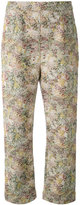 Isa Arfen abstract print cropped trousers - women - Cotton/Linen/Flax/Spandex/Elastane - 6