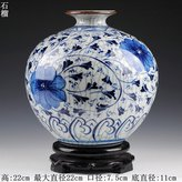 JHDH2 Jingdezhen Ceramic Ornaments Hand Painted In The Multimedia Antique Porcelain Vases Dynasty Tombs New Chinese Living Room Boutonniere Flower, Hand Painted Dynasty Tombs Of Pomegranate Bottle Rotating Dock