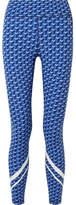 Tory Sport Printed Stretch-tactel Leggings - Blue
